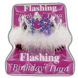 Svietiaca tiara s trblietavými kamienkami k 18. narodeninám