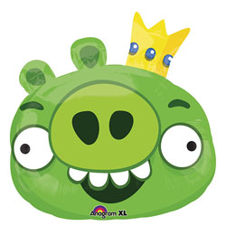 Angry Birds - zelené prasa Super Shape fóliový balón