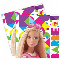 Barbie Sparkle - party servítky - 33 cm x 33 cm, 20 ks/bal