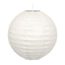 Guľatý lampión - biely, 25,5 cm