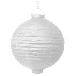 Záhradný lampión - okrúhly, biely