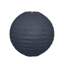 Guľatý lampión - čierny, 25,5 cm