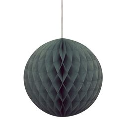 Čierny party guľatý lampión - 20 cm