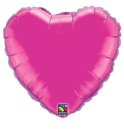 18 inch Magenta - sýto ružový fóliový balón srdce