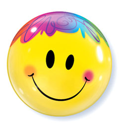 22 inch Bright Smile Face - Smajlík Bubble balón