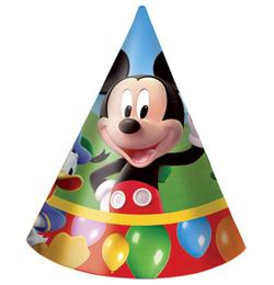 Mickey Mouse Party Time - Klobúčiky - 6 ks/bal
