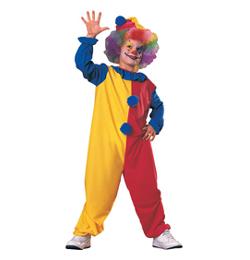 Farebný kostým klauna pre deti, veľkosť S