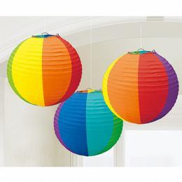 Guľatý lampión - farebný, 24 cm