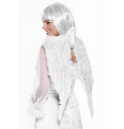 Anjelské krídla veľké biele z peria