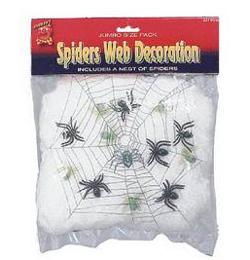 Biela pavučina so 6 pavúkmi - UV