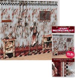 Dekorácia na stenu na Halloween, scéna - Patológia - 6 ks/bal, 1,2 m x 3,6 m