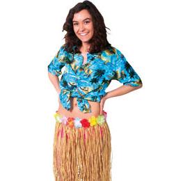 Prírodná havajská slamená sukňa - 80 cm