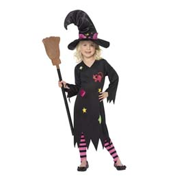 Čierny bosorácky kostým pre deti na 3-4 roky