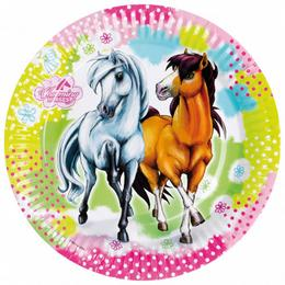 Party taniere - kone, Charming Horses, 23 cm, 8 ks