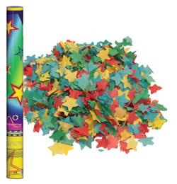 60 cm vystreľovacie konfety -  farebné papierové hviezdy