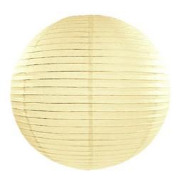 Party lampión - okrúhly, krémový