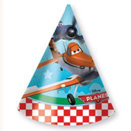 Planes - Lietadlá party klobúčiky - 6 ks