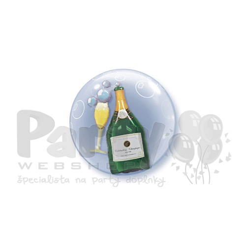 24 inch Bubbles Champagne Double Bubble balón