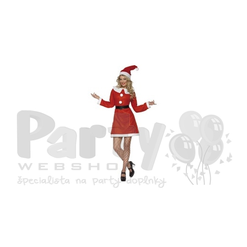 Miss santa červený Mikulášsky kostým pre ženy 22c1ebab1ab