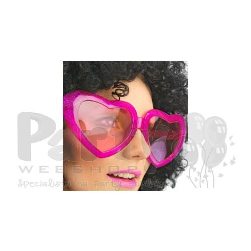 Veľké ružové okuliare v tvare srdca 28ad2f75cf8