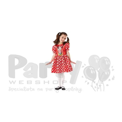 2bcd84c7f906c Minnie Mouse - Červeno-biele bodkované šaty - Pre deti od 7 až do 8 rokov ,  veľkosť S