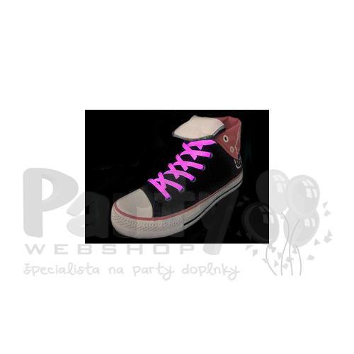 fef211a803 Svietiace šnúrky do topánok - ružové