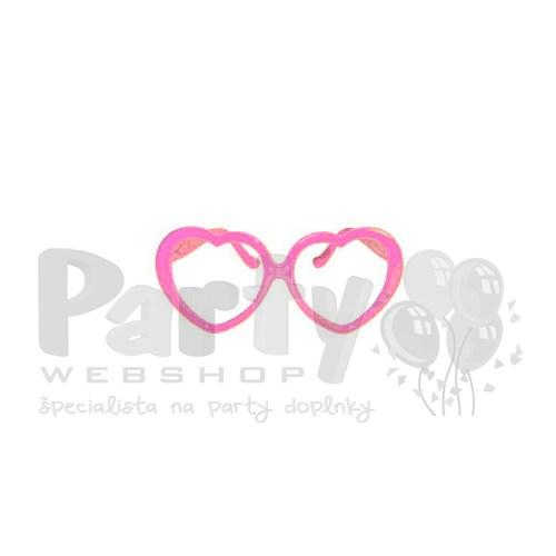Ružové okuliare v tvare srdca adba7b10f69