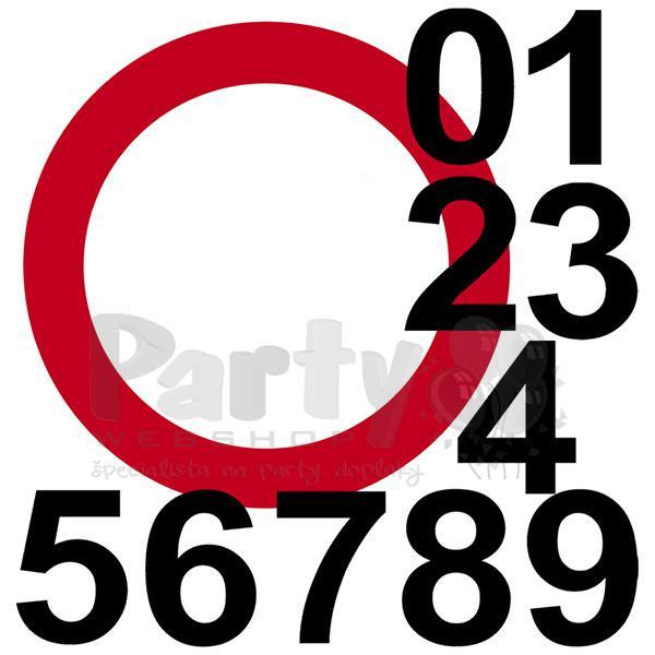 f04c9201f Zákazová dopravná značka k narodeninám s číslicami