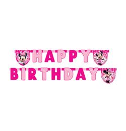 Minnie party Písmenkový banner Happy Birthday - 1,9 m