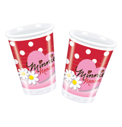 Minnie a margarétky party Poháre - 200 ml, 10 ks/bal