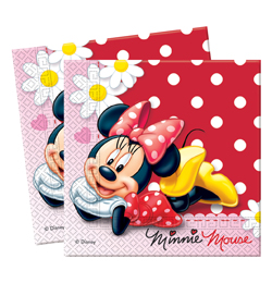 Minnie a margarétky party Servítky - 33 cm x 33 cm, 20 ks/bal