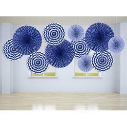 Závesná dekorácia rozeta vejáre s námorníckym motívom - 3 ks