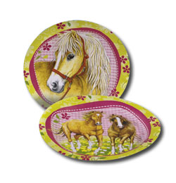 I Love Horses party taniere - 23 cm, 8 ks/bal