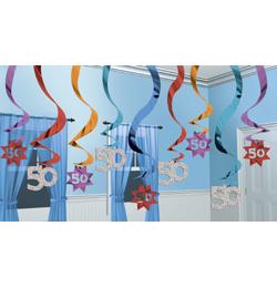 Závesná narodeninová dekorácia č. 50 - 60 cm, 15 ks/bal