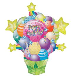 Surprise Package Connext - Balík balónov a hviezd Shape fóliový