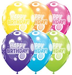 11 inch Birthday Dots and Glitz Tropical Asst. narodeninový bal