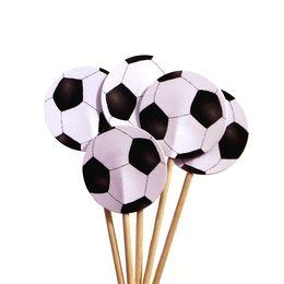 Party paličky so vzorom futbalovej lopty - 8 ks