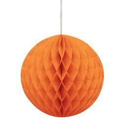 Oranžový party guľatý lampión - 20 cm
