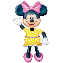 Minnie chodiaci fóliový balón