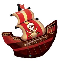 40 inch Pirate Ship - Pirátska loď fóliový balón