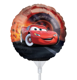 9 inch Cars - Autá fóliový balón s paličkou- 3 ks/bal