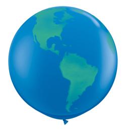3 FT Globe Dark Blue balón zemeguľa (2 ks/bal)
