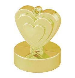 Závažie na balón - srdce zlaté - 110 gr