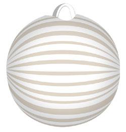 Bielý guľatý lampión - 22 cm