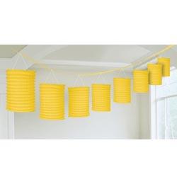 Závesná dekorácia lampiónová girlanda žltá - 3,6 m