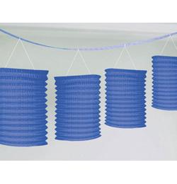 Tmavo modrá lampiónová girlanda závesná dekorácia - 3,6 m