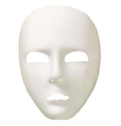 Biela maska na tvár