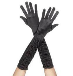 Čierne dlhé ženské rukavice