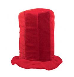 Červený party klobúk pre fanúšika