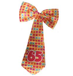 Narodeninová farebná party viazanka s číslom 65